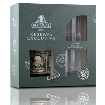 Rum Botucal Reserva Exclusiva + 2x Glas in Geschenkbox - 0,7l, 40% vol.