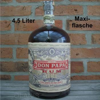Maxiflasche Don Papa, 4,5 Liter Rum - 40% vol., Philippinen